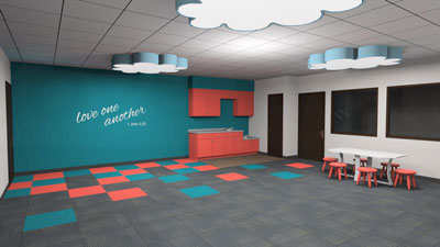 Children's classrooom rendering